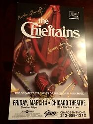 The Chieftains Autographed / Signed Concert Heavy Poster 2009 Tour Chicago