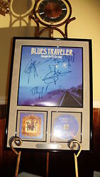 Blues Traveler Autographed Signed Straight On Till Morning Cd Poster Flat Art