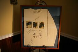 Counting Crows Autographed / Signed Desert Life Cd Tour Concert Shirt Framed