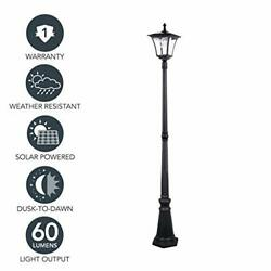 Sterno Home Gl42309 Upgraded Version Outdoor Solar Led Street 76 Inch High Black