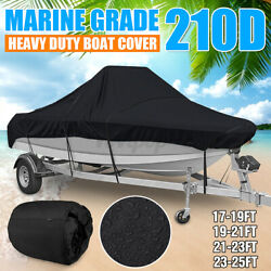 17and039-25and039 Waterproof Boat Cover Marine Grade 210d Fits V-hull Center Console Boat