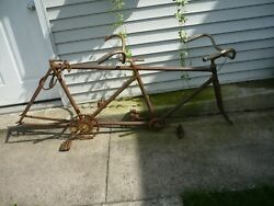 Antique Fauber Tandem Bike Skip Tooth Lugged Frame For Pick Up Added Pics
