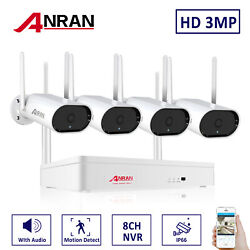 Hd 2k Wireless Wifi Ip Security Camera System Outdoor 8ch 5mp Nvr 1tb With Audio
