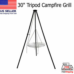 30 Tripod Campfire Cooking Grate Outdoor Camping Fire Grill