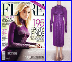 New Tom Ford Metallic Amethyst Lace Coctail Dress 40 - 4