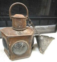 Antique Iron Candle Lampcolor Glass,buggy,miner,skater