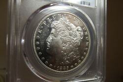 1885-s Morgan Silver Dollar Pcgs Ms62 Pl Cac Dmpl Obverse With Cameo Newpx