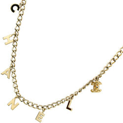 Necklace Vintage Logo Kihei Chain Metal Gold Gp Charms Women And039s No.584