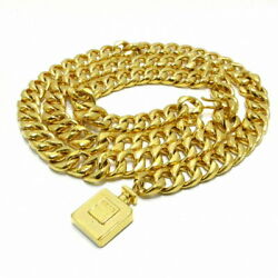 Belt Chain Belt Perfume Bottle Gold Metal Material Previously No.642
