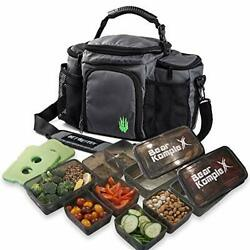 Bear Komplex Insulated Meal Prep Management Lunch Bag, 6 Compartment Lunch Box