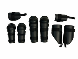 Protective Riot Gear Set Forearm Upper Arm Thigh And Shin Guards Airsoft S01.2