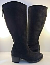 Paul Green Black Suede Kendal Tall Riding Boots Womens Size Uk 5.5m / Us 8m