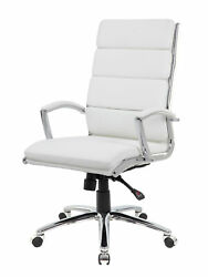Boss Caressoftplus Executive Chair In White Finish B9471-wt