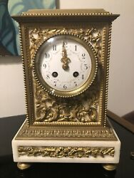Antique And Co Marble Mantle Clock