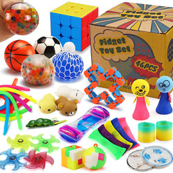 46 Pack Sensory Fidget Toys Set With Gift Box Stress Relief And Anti-anxiety
