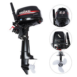 Outboard Motor 2 Stroke 6 Hp Marine Engine Water Cooling Inflatable Fishing Boat