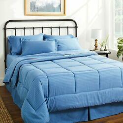 Sweet Home Collection 8 Piece Comforter Set Bag With Unique Design Bed Sheets