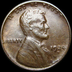 1924-d Lincoln Cent Wheat Penny --- Nice L@@k Nicked --- R494