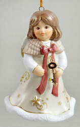 Goebel Angel Christmas Bell Angel With Gold Key - Boxed 11691861