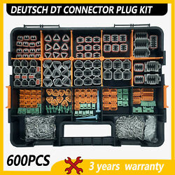 600 Pcs Deutsch Dt Genuine Connector Kit 14-16awg Stamped Contacts