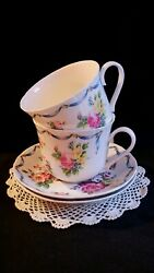 Dresden Sprays Roy Kirkham Made In Engleland Breakfast Large Cup And Saucer