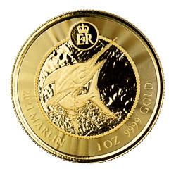 Special Price 2021 1 Oz Cayman Islands Marlin .9999 Gold Coin A451