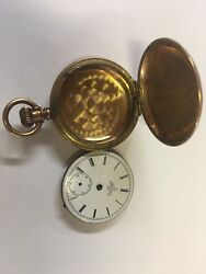 ELGIN HUNTER#x27;S CASE POCKET WATCH SERIAL #3987087 PARTS ONLY