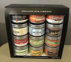 12-williams Sonoma Bbq Grilling Rubs Assorted Global Library Chicken Fish Steak