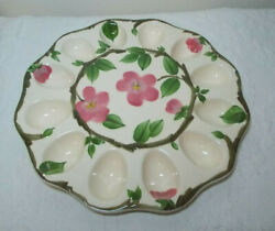 Franciscan Desert Rose Deviled Egg Plate 12.5 Inches - New In Box