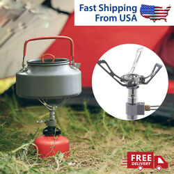 Folding Burner 2700w Brs 3000t Cooking Gas Outdoor Stove Hiking Camping Titanium $11.99