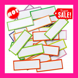 40 Pieces Magnetic Dry Erase Sticky Labels Writable Flexible Magnet Name Tags