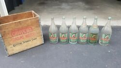 Chippewa Falls Sparkling Water Bottles And Crate