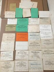 Civil War Surgeon Fred Berg Jefferson Medical College Lecture Tickets 1860andrsquos ++