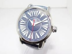 Pawnshop Geo Monaco Automatic 101th One-o-one Blue Dial Men's Leather Belt