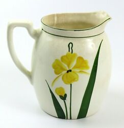 Vintage Steubenville China Yellow Flower Pitcher Vase, 7 Tall, Read Condition