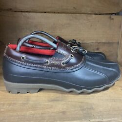 Sperry Top Sider Mens Leather Rubber Waterproof Ankle Duck Boots Shoes Size 8m