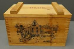 The Classics By Evans 1994 Vtg Wooden Ammo Crate Box 16 X 9 Mill Wheel House