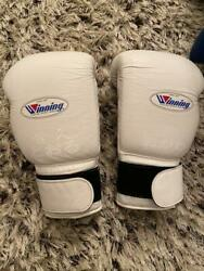 Winning Boxing Gloves Tape Type Ms-600b 16oz White Good Condition From Jpn F/s