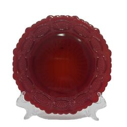 4 Vintage Avon Cape Cod 1876 Ruby Red Collection 5-1/2 Bread And Butter Dishes