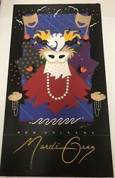 New Orleans Mardi Gras 1992 Limited Edition Poster Patti Harris Googe
