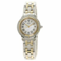 Hermes Clipper Classic Watches Cp1.220 Stainless Steel/ssxgp Ladies