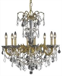 Athena Chandelier Traditional Antique 8-light French Gold 60w