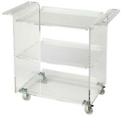 Trolley Server Cart Contemporary Clear Acrylic Hand-crafted