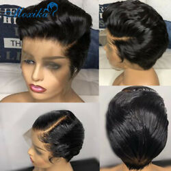 Pixie Wig Human Hair 13x4 Lace Front Human Hair Wigs Remy 150 Short Human Hair W