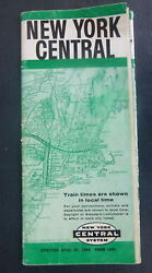 1962 New York Central Railroad Railway Timetable Map April 29