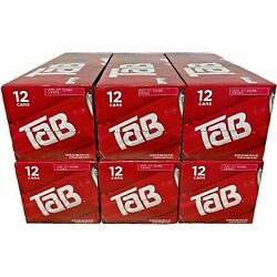 Lot Of 6 Tab Soda 12 Pack Soft Drinks Tab Coca-cola   Exp August 23rd, 2021