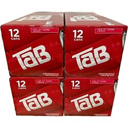 Lot Of 4 Tab Soda 12-pack Soft Drink Tab Coca-cola Soda Exp August 23rd, 2021