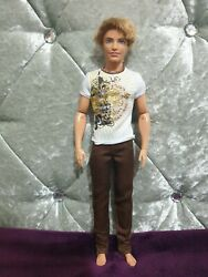 Barbie Fashionista Ken Doll Rooted Hair Articulated Hands Mattel 2012