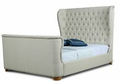 Manhattan Comfort Traditional Lola Ivory Queen Bed Bd007-qn-iv