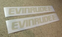 Evinrude Vintage Outboard Motor Decals Tan 2-pak Free Ship + Free Fish Decal